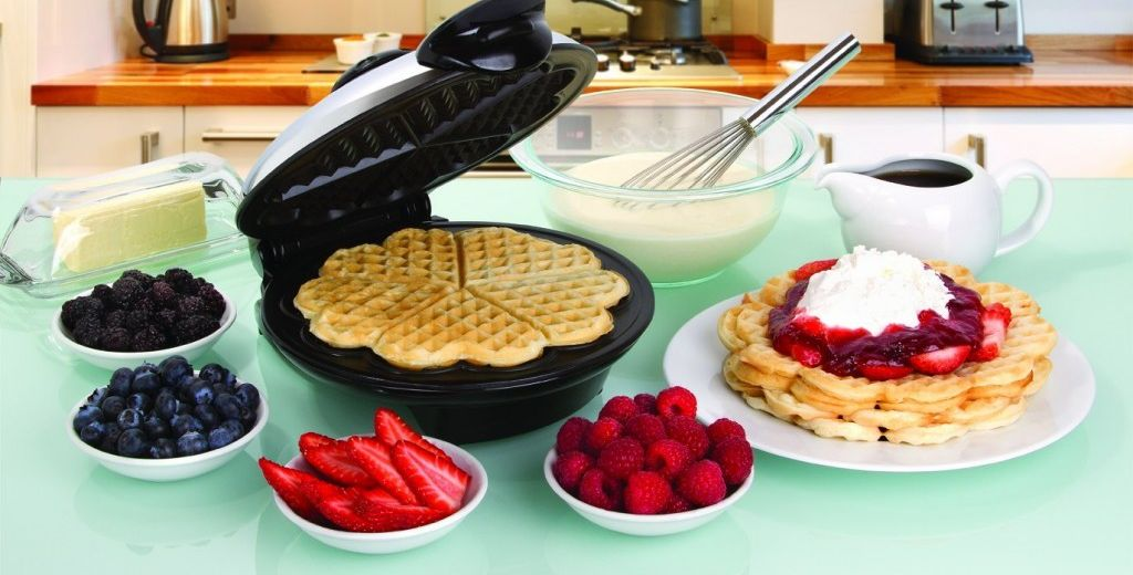 Christmas Morning with Heart Shaped Waffles