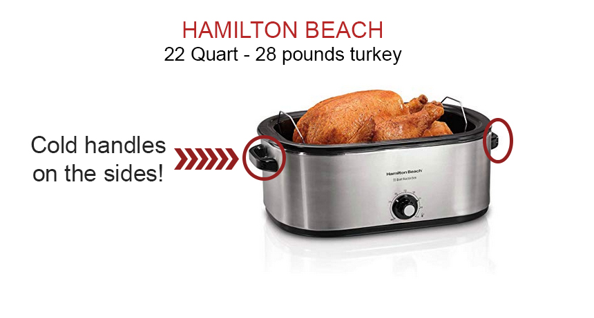 HIGH CAPACITY ELECTRIC ROASTER OVEN – HAMILTON BEACH 22 QT